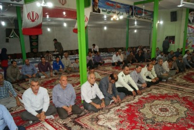 گزارش تصویری از مراسم ضیافت افطاری در شهر سگزآباد