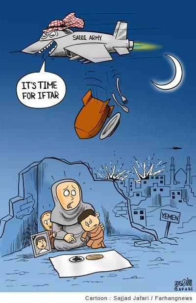 افطار سعودی ها برای مردم یمن