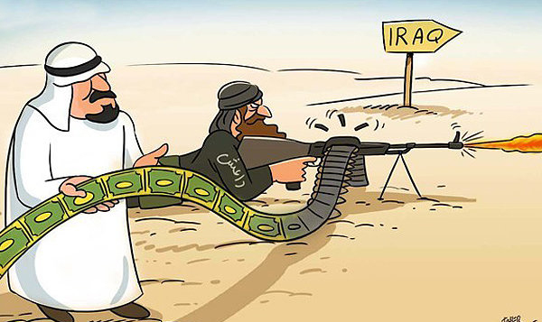 کاریکاتور آل سعود و داعش