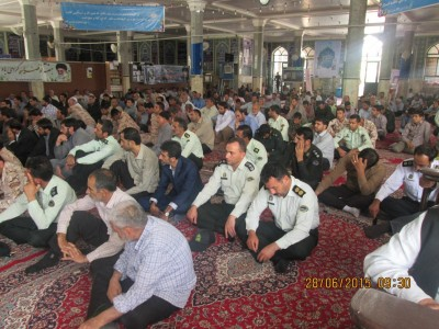 گزارش تصویری از مراسم یادبود شهدای هفتم تیر در بوئین زهرا