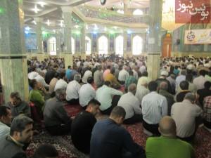 گزارش تصویری از نماز عید فطر در بوئین زهرا