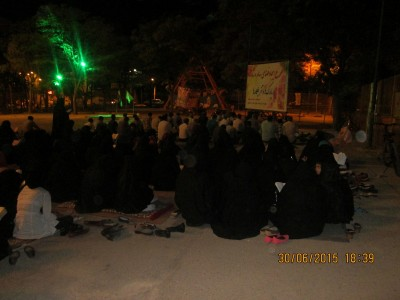 گزارش تصویری از مراسم شب شب قدر در کنار مزار شهدای گمنام بوئین زهرا