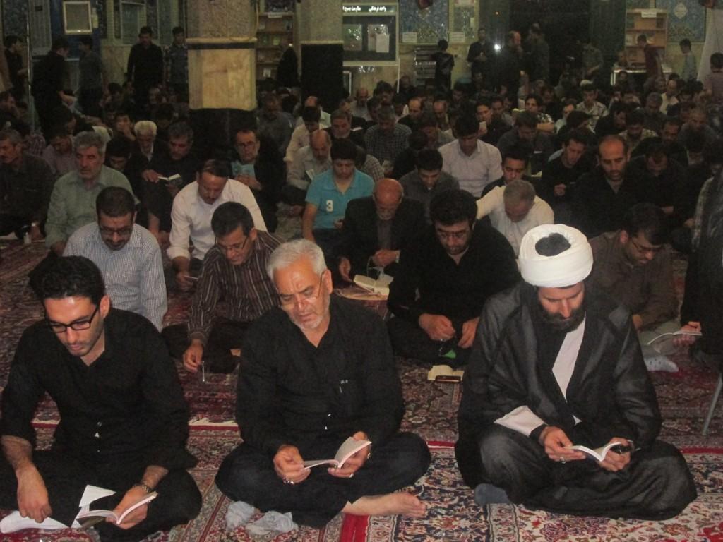 گزارش تصویری از مراسم شب قدر مسجد جامع بوئین زهرا