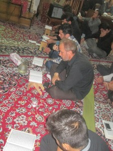 گزارش تصویری از مراسم شب قدر در مسجد امیرالمومنین(ع) بوئین زهرا