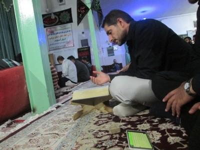 گزارش تصویری از شب زنده داری مردم عصمت آباد در شب بیست و یکم ماه رمضان