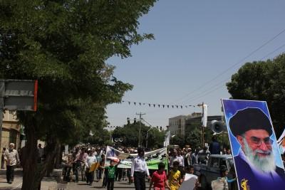 گزارش تصویری از راهپمایی باشکوه روز قدس دربوئین زهرا