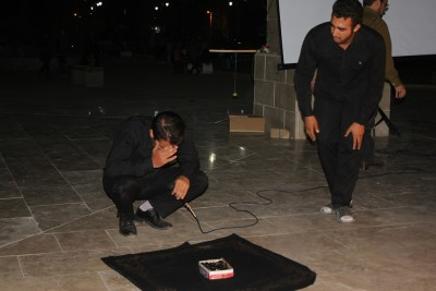 گزارش تصویری از نمایش تئاتر خیابانی در بوئین زهرا