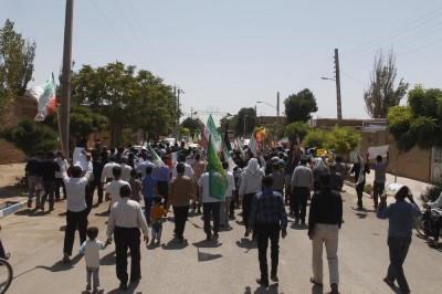 گزارش تصویری از راهپمایی روز قدس در روستای خوزنین