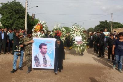 مراسم بزرگداشت جاویدالاثر شهید مدافع حرم الیاس چگینی