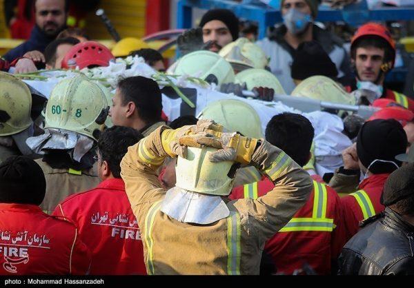 پیکر آخرین شهید آتشنشانی از زیر آوار پلاسکو خارج شد