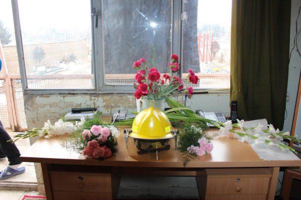 گرامیداشت یاد و خاطره آتش نشانان فداکار در مرکز آتش نشانی بوئین زهرا