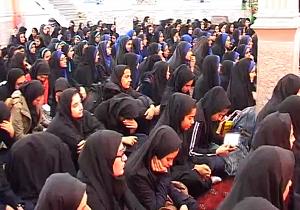 دانش آموزان بویین زهرایی در عزای یاس نبوی