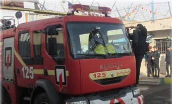 مانور اطفاء حریق در زندان شهرستان بوئین زهرا اجرا شد