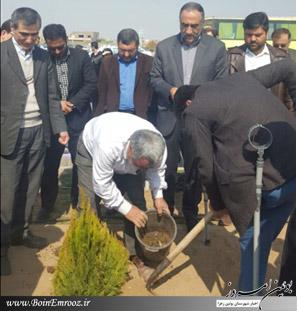 مراسم درختکاری در دانشگاه فنی مهندسی بوئین زهرا برگزار شد