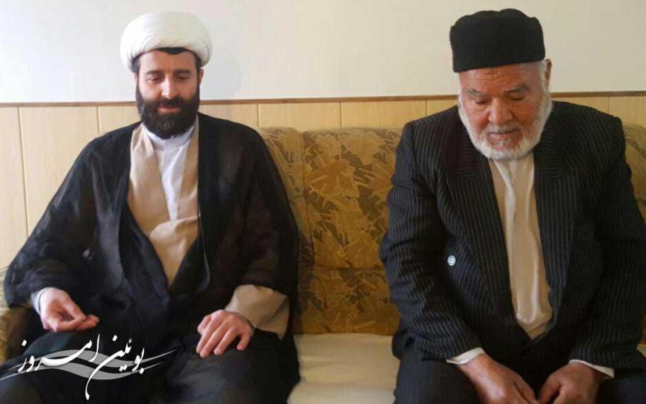 امام جمعه شهر بوئین زهرا به دیدار پدر شهیدان جامکلو رفت