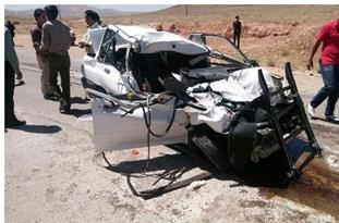 سانحه رانندگی درجاده قزوین - بوئین زهرا یک کشته و 3 مصدوم برجای گذاشت