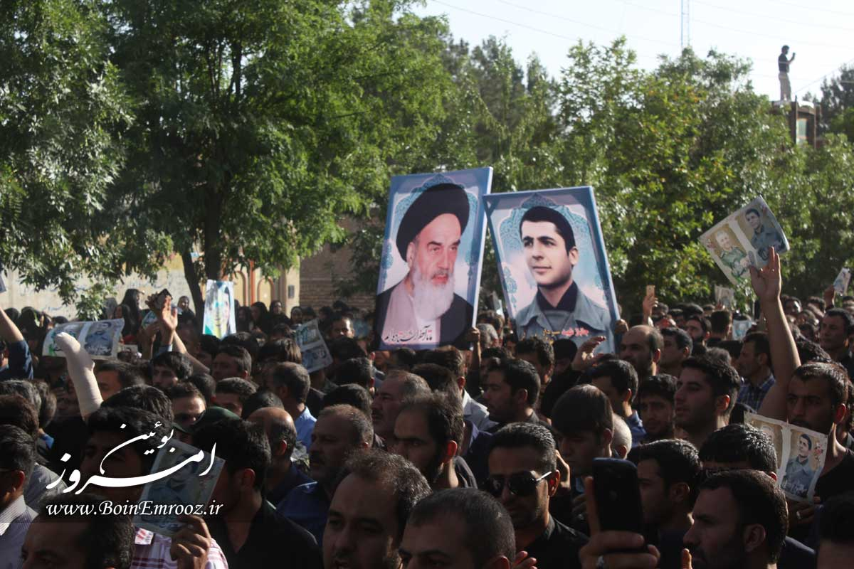 مراسم تشییع پیکر مطهر شهید علی محمدرضایی در شهر شال