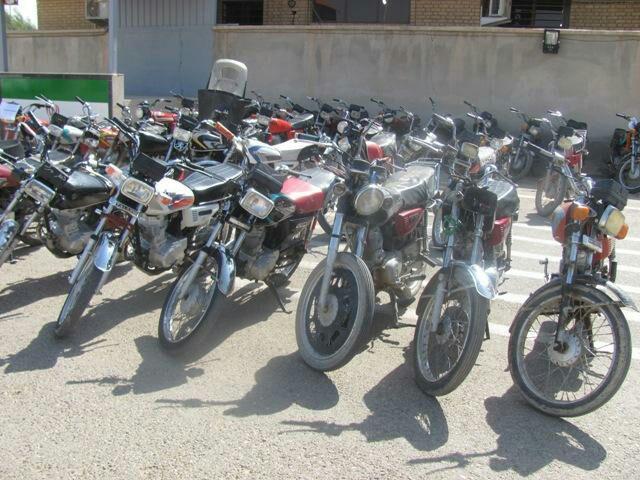 25 دستگاه موتورسيكلت متخلف در شهر سگزآباد توقیف شد