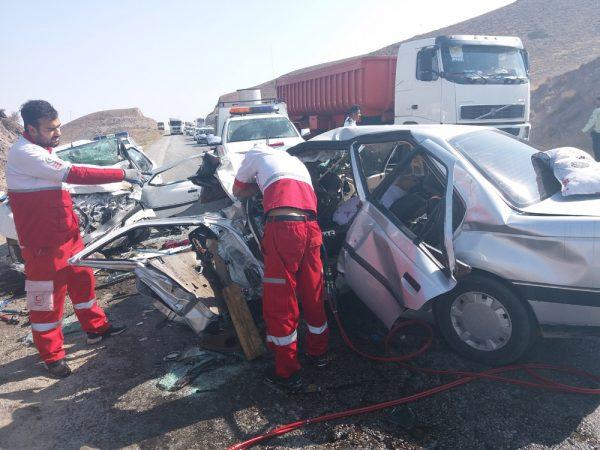۳ کشته و ۵ مصدوم حاصل تصادف مرگبار در محور بوئین زهرا-ساوه+عکس