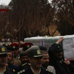 مراسم تشییع پیکر مدافع امنیت وطن شهید مرتضی رمضانی